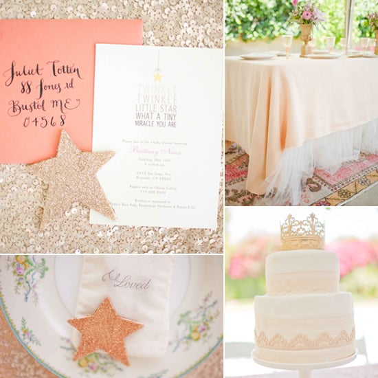 An Old-World, Glam, Sparkling Baby Shower