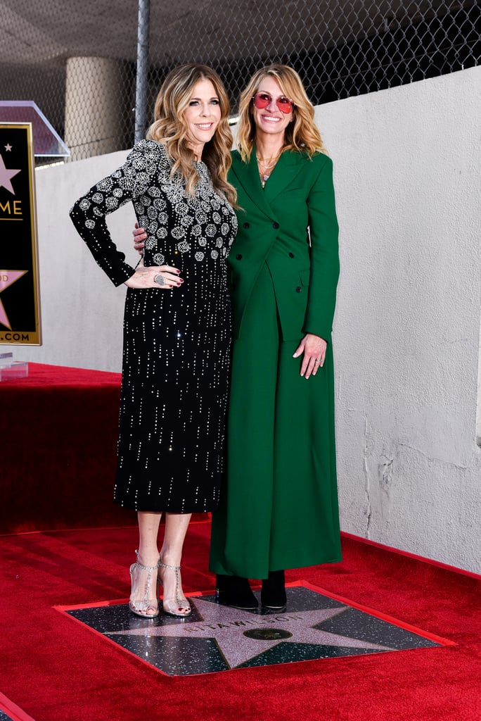 Julia looked amazing in a green Salvatore Ferragamo suit and rose-tinted glasses at the Hollywood Walk of Fame.
