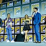 Pictured: Kevin Feige, Taika Waititi, Natalie Portman, Chris Hemsworth, and Tessa Thompson at San Diego Comic-Con.