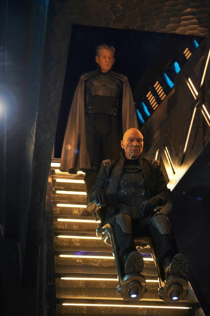 Magneto (Ian McKellan) and Professor Charles Xavier (Patrick Stewart) take matters seriously.