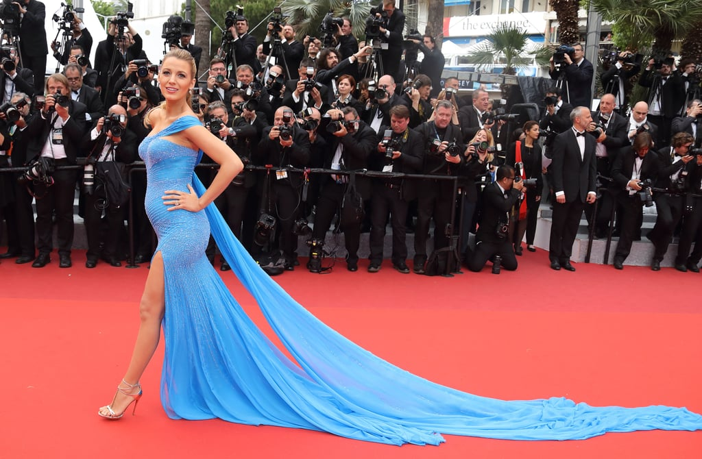 Blake Lively showed off her baby bump at the festival in 2016.