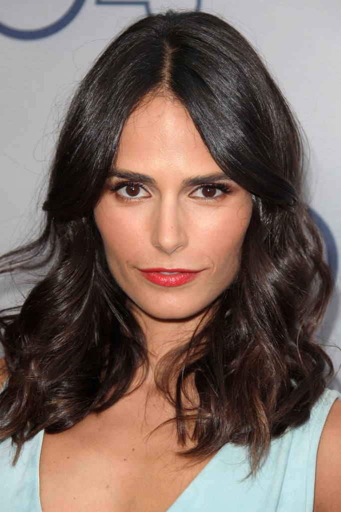 Orange lipstick is a sexy Summer shade, and Jordana Brewster wore it well at the TNT 25th anniversary soiree.
