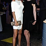 Adriana Lima and Rosamund Pike were in white and black, respectively.