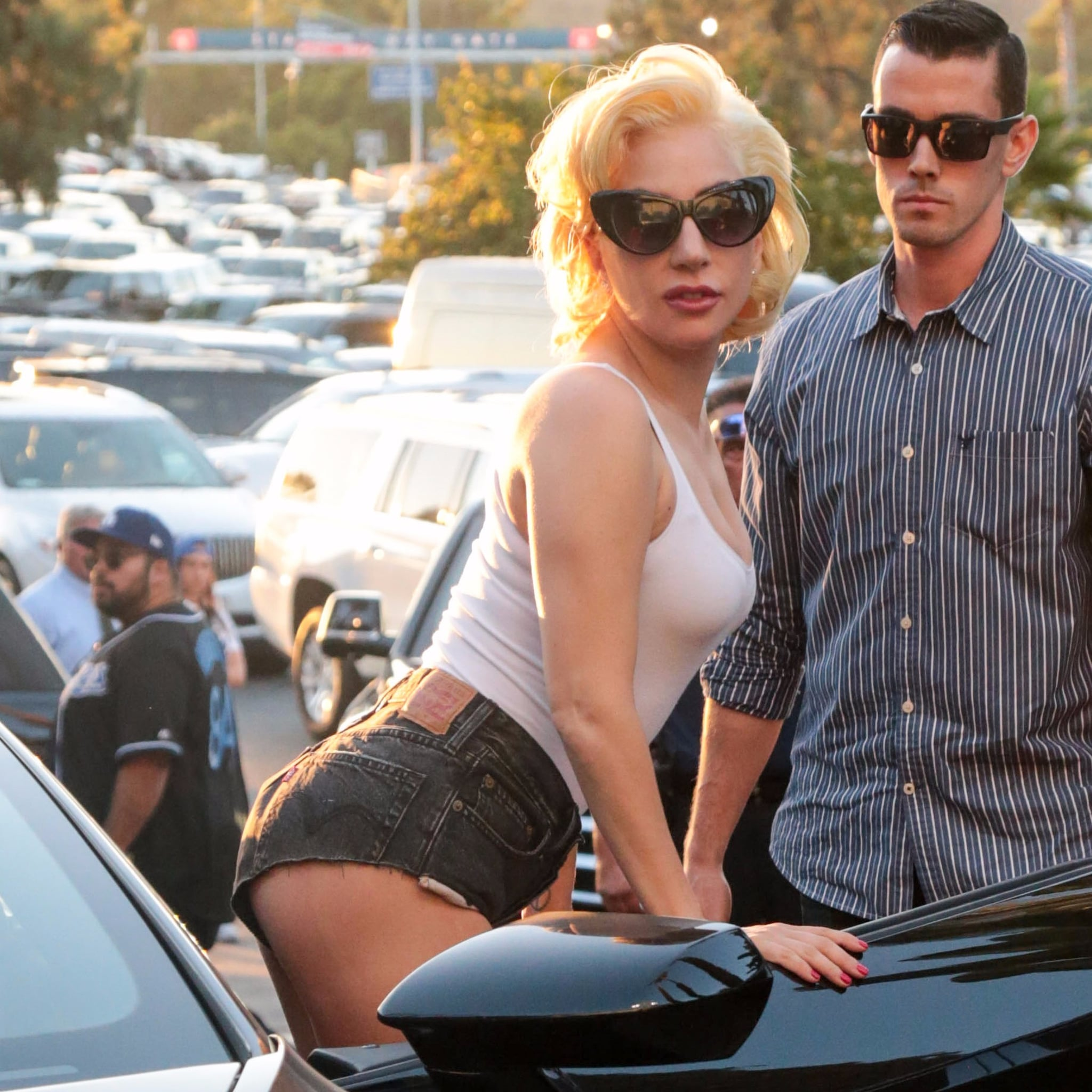 Lady Gaga At The Dodgers World Series Game Popsugar Celebrity