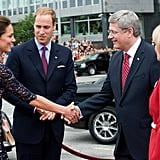 Kate Middleton and Prince William were greeted in Canada.