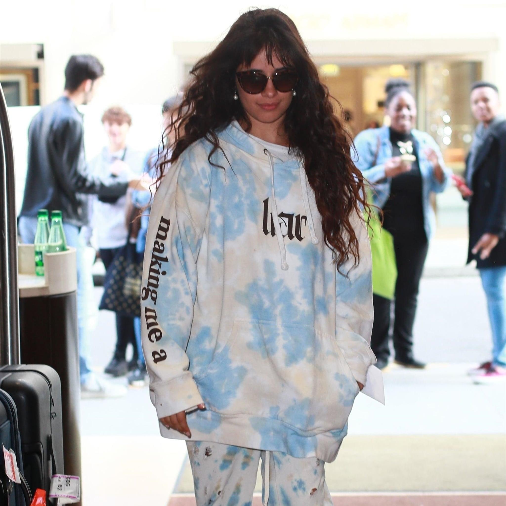 Camila Cabello Wears Her Liar Tie-Dye Sweatshirt in Paris | POPSUGAR Fashion
