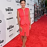 Jessica Szohr stepped out for the This Is the End premiere in LA.