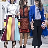 Irene Kim and Aimee Song at Fashion Week Fall 2016
