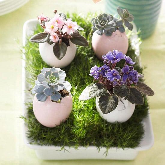 Easter Egg Flowerpots