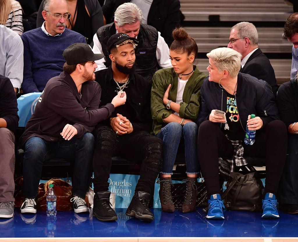 Zendaya and Odell Beckham Jr. look very friendly at Knicks ... |Zendaya And Odell Beckham Knicks