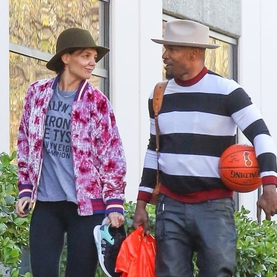 Jamie Foxx and Katie Holmes on Valentine's Day 2018