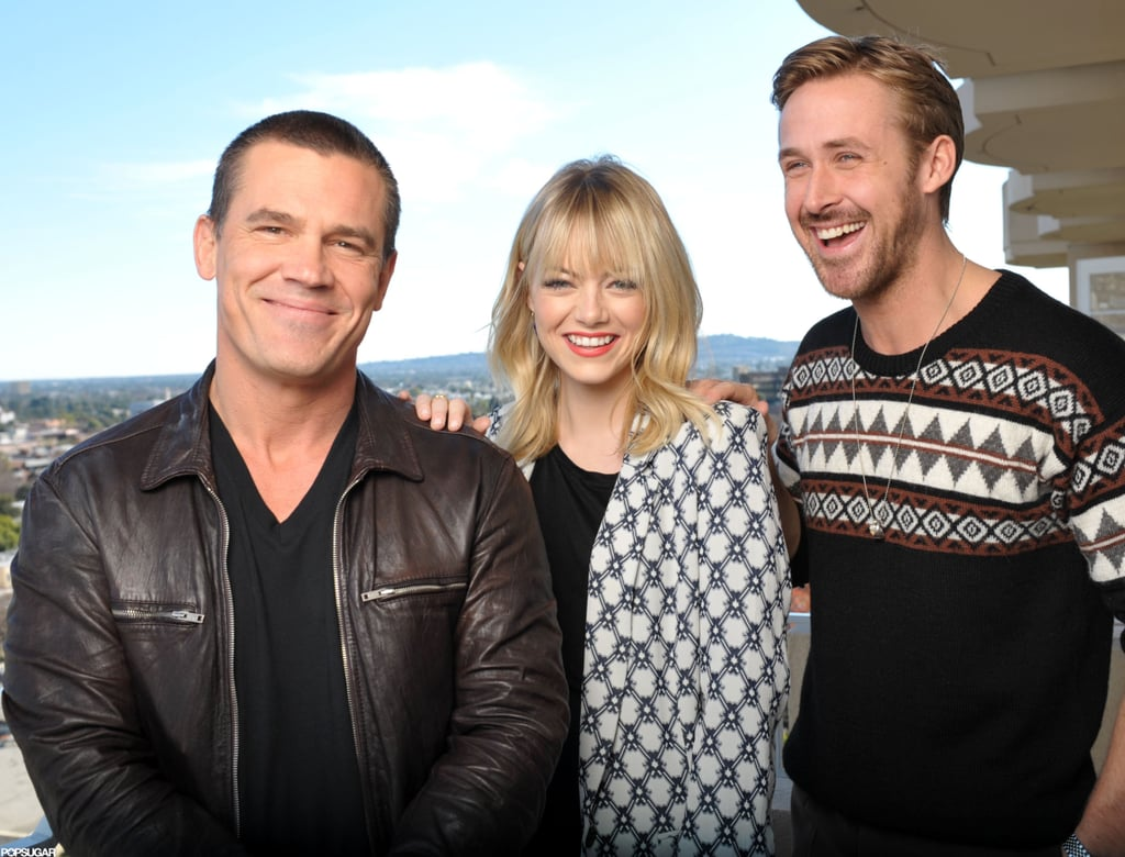 Josh Brolin, Emma Stone, and Ryan Gosling stepped out for a photo shoot in LA.
