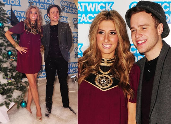 Photos of X Factor Runners Up Olly Murs and Stacey Solomon at Gatwick Factor