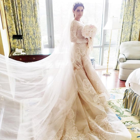 Sahar sanjars elie saab wedding dress popsugar fashion junglespirit