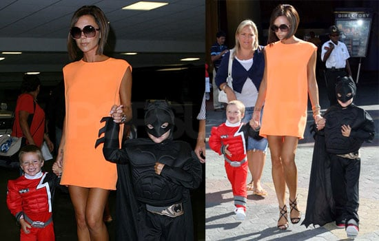 Photos of Victoria Beckham At Universal Studios With Cruz and Romeo