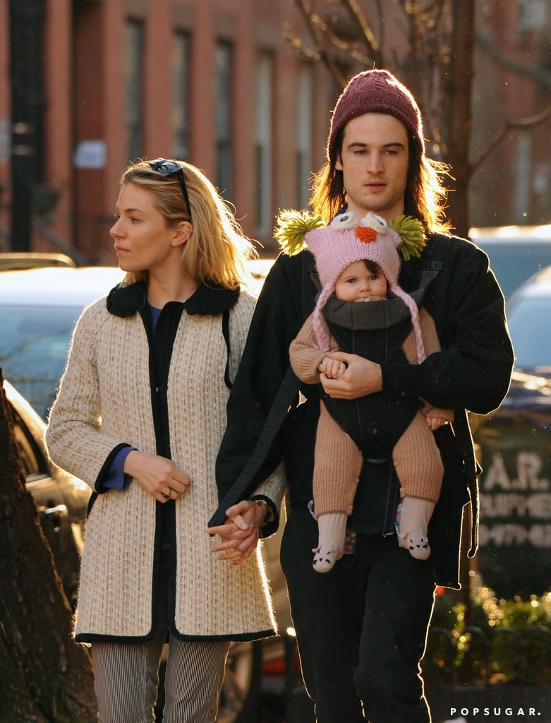 Sienna Miller and Tom Sturridge spent part of their Sunday afternoon strolling with their daughter Marlowe in NYC.