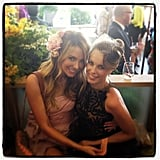 Jennifer Hawkins and Jessica McNamee made a stunning pair at Crown Oaks Day. Source: Instagram user jenhawkins_