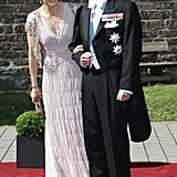 Mary and Frederik at a wedding in June 2011.