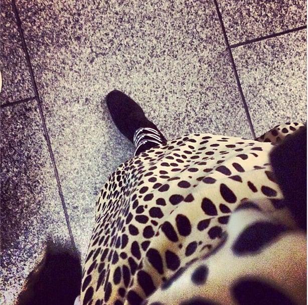 Rita Ora had us seeing spots in this snap. Source: Instagram user ritaora