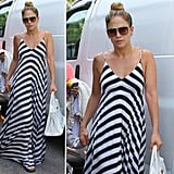 Jennifer Lopez has the perfect striped maxi dress, and we're shopping it now.