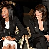 Naomi Campbell and Penelope Cruz at Burberry