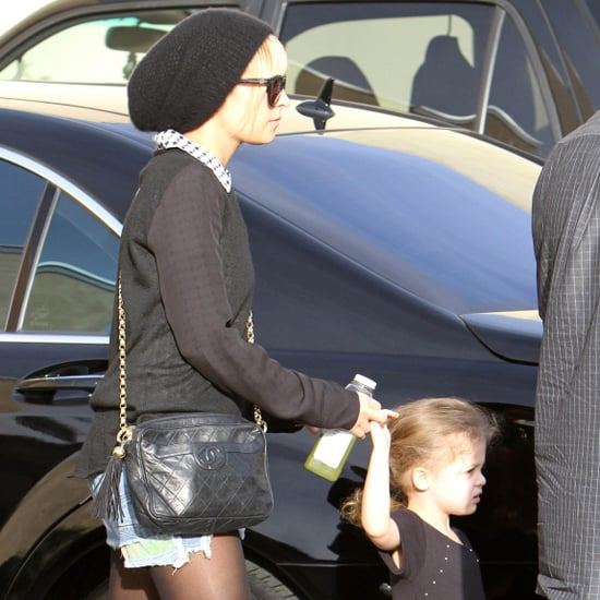 Nicole Richie With Harlow at Ballet Class Pictures