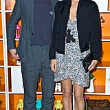 Chloë Sevigny posed with The Wait director M. Blash in a floral dress and pink peep-toe booties.