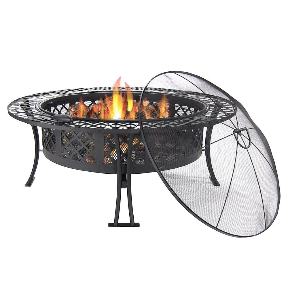 40-Inch Fire Pit With Spark Screen ($199) | Patio Decor on ...