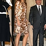Queen Máxima at the Elysee Palace in Paris.