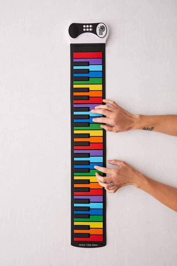 rock and roll it rainbow roll up keyboard these are the hottest christmas gifts in 2019. Black Bedroom Furniture Sets. Home Design Ideas