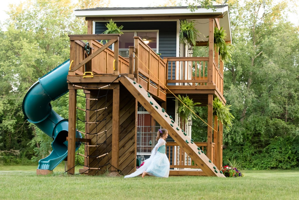 1 Dad Built His Daughters a Playhouse That's Worthy of Its Own MTV Cribs Episode