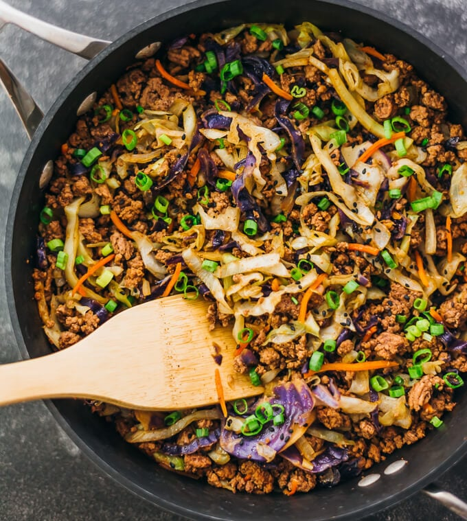 Healthy Ground Beef Recipes: Ground Beef And Cabbage Stir Fry