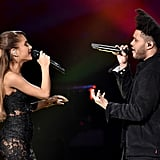 """He has Ariana Grande to thank for connecting him with Swedish songwriter and record producer Max Martin. """"Ariana [Grande] was kinda my foot in the door with Max [Martin], my chance to show him 'I can play this game,' y'know? But when we got in the room together, we didn't really connect as much,"""" he explained. """"Then someone invited him to a show I did at the Hollywood Bowl, and he saw 15,000 people singing along, and I think he was like, 'OK, there's something I'm not getting.' So we sat down again, and the first song we created was 'In the Night.'"""" Music saved his life. """"I didn't know that I had a gift with music, but I was always singing. I was actually getting in trouble because I would sing in class — my poor mother, it became a real problem. I was really shy so I wasn't really singing to my friends or girls, but when I was maybe 13, somebody said, 'You actually have a pretty nice voice,'"""" he revealed. """"It was tough growing up where I was from. I got into a lot of trouble, got kicked out of school, moved to different schools, and finally dropped out. I really thought film was gonna be my way out, but I couldn't really make a movie to feel better, you know? Music was very direct therapy; it was immediate and people liked it. It definitely saved my life . . . It's easier to talk about songs that are just about me; I don't like to talk about what I'm going through with other people."""" Despite the coronavirus outbreak, The Weeknd moved forward with releasing his After Hours album for his fans. """"I cut that discussion off right away. Fans had been waiting for the album, and I felt like I had to deliver it. The commercial success is a blessing, especially because the odds were against me: [Music] streaming is down 10%, stores are closed, people can't go to concerts, but I didn't care. I knew how important it was to my fans,"""" he said. """"It's been amazing to see the real heroes in our world: health care workers, grocery store clerks, first responders. If I could do somethi"""