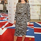 Davina McCall wore monochrome Michael Kors with pink Jimmy Choos.