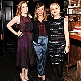 Amy Adams posed with Parks and Recreation stars Rashida Jones and Amy Poehler.
