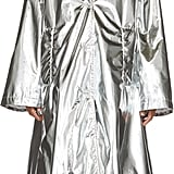 MM6 Maison Martin Margiela Silver Shiny A-Line Trench Coat