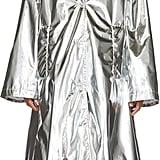 MM6 Maison Martin Margiela Silver Shiny A-Line Trench Coat