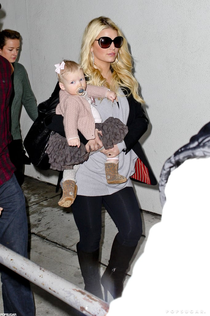Jessica Simpson arrived at LAX yesterday accompanied by Eric and Maxwell Johnson. The trio took to the skies while rumors are swirling that Jessica is pregnant with her second child. Jessica's kept to a busy schedule in recent weeks, promoting her eponymous clothing line all over the country. She took a holiday break to spend some quality time with loved ones and to celebrate Maxwell's first Thanksgiving.  The Simpson sisters, Jessica and Ashlee, have been at the top of headlines this week. While Jessica is reportedly expanding her family, it appears sister Ashlee is newly single. After over a year and a half of dating, Ashlee and Vincent Piazza confirmed their split, with a source close to the couple citing distance as the reason for their breakup.