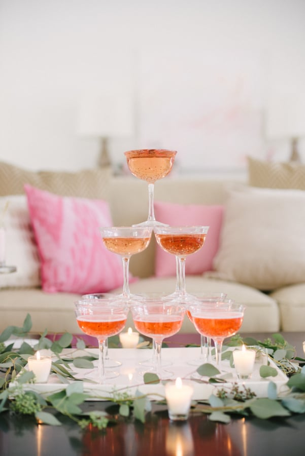 Toast with pink Champagne to add some festive flair.