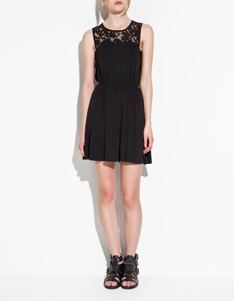 Zara's perfect Summer take on the LBD comes complete with a pretty lace inset.