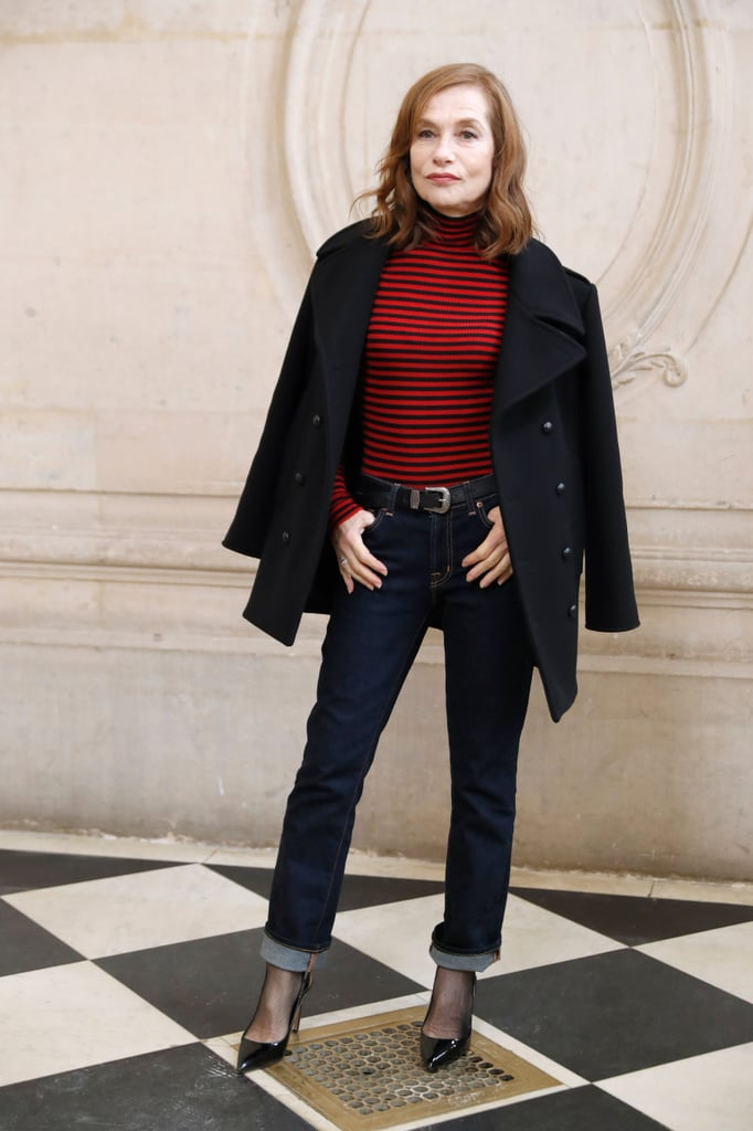 Isabelle Huppert Looked Cool and Casual in Jeans