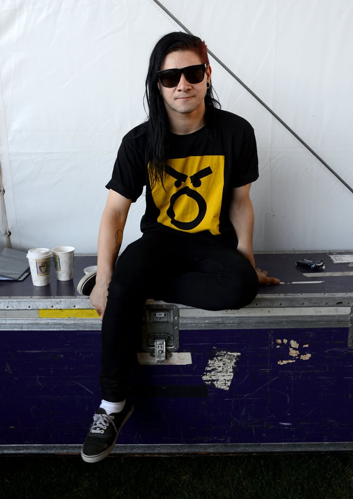 Skrillex took a break from the festivities in 2013.