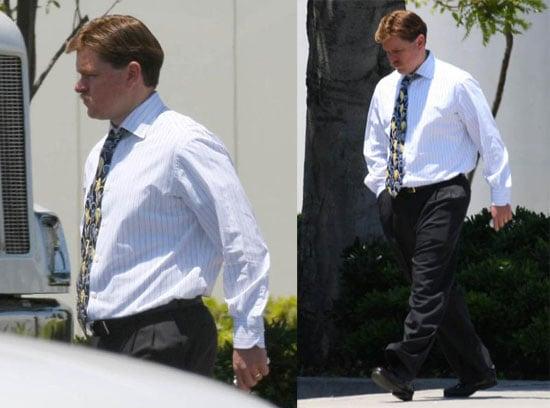 Matt Damon on the Set of The Informant