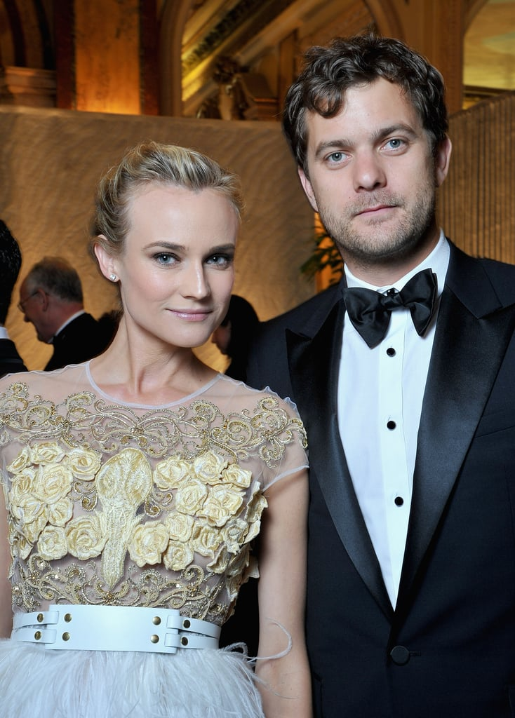 Diane Kruger and Joshua Jackson posed together inside the event.