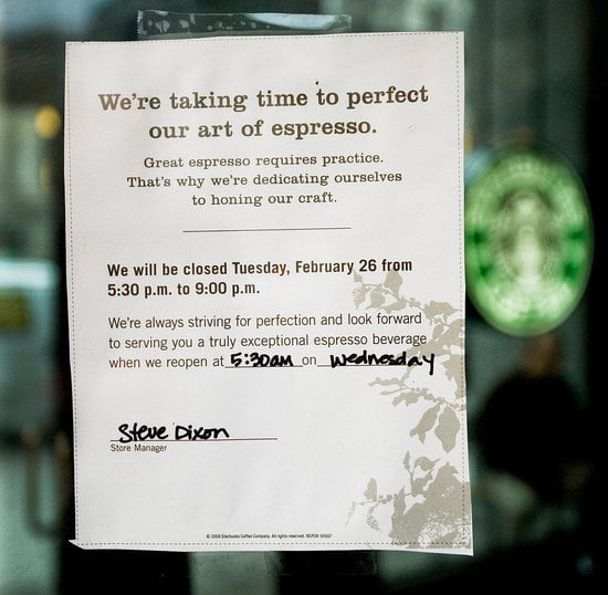 Starbucks Shuts Down to Refocus