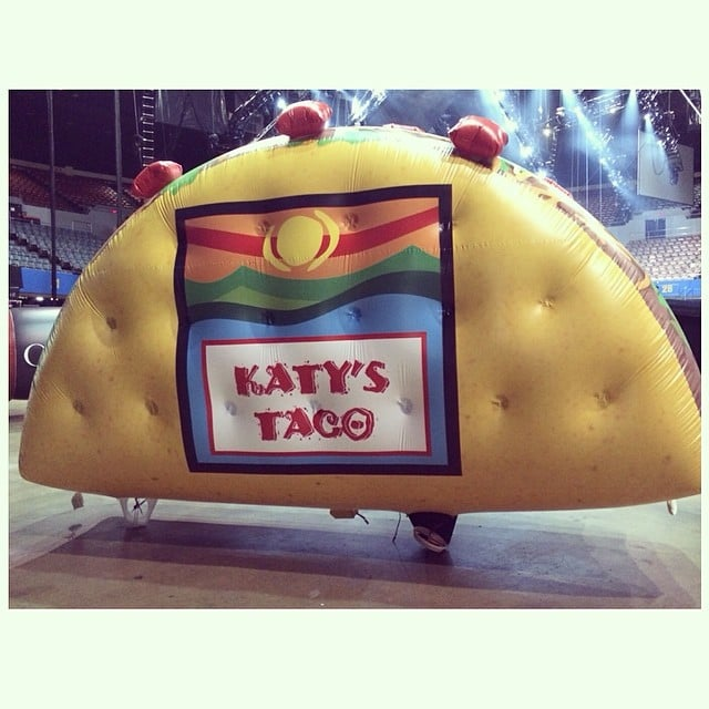 """Now THAT'S what I call Taco Tuesday! (Insert all perv jokes here),"" Katy Perry captioned this photo. Source: Instagram user katyperry"