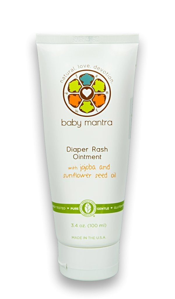 Baby Mantra Natural Diaper Rash Ointment with Jojoba and Beeswax ($12)
