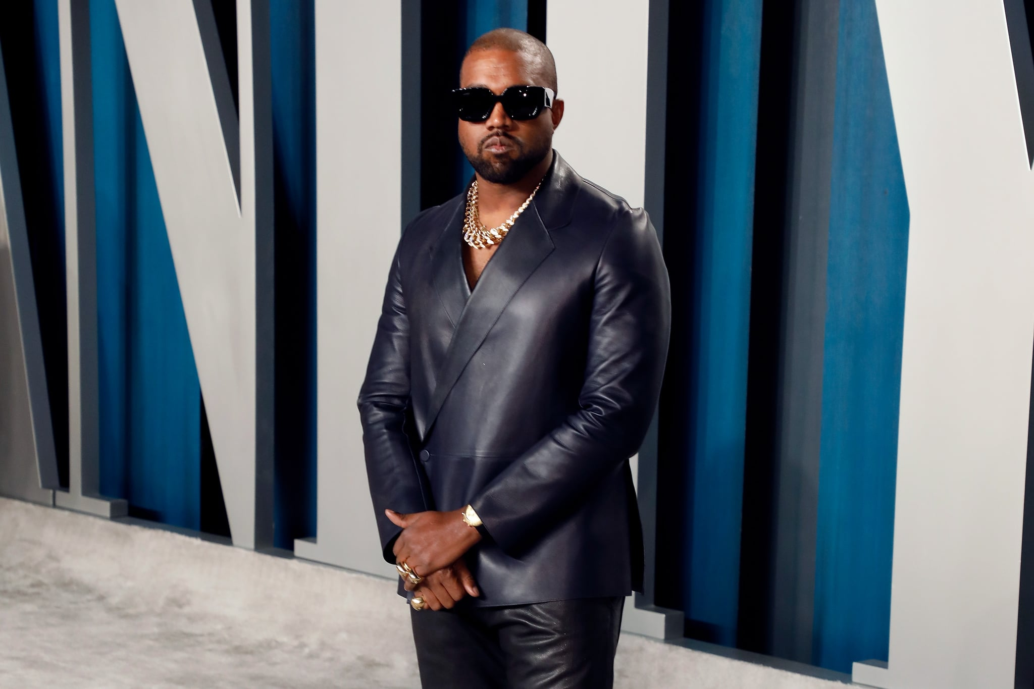 BEVERLY HILLS, CALIFORNIA - FEBRUARY 09: Kanye West attends the 2020 Vanity Fair Oscar Party at Wallis Annenberg Center for the Performing Arts on February 09, 2020 in Beverly Hills, California. (Photo by Taylor Hill/FilmMagic,)
