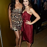 Jenna Dewan and Camila Alves got together at the Magic Mike premiere in London.