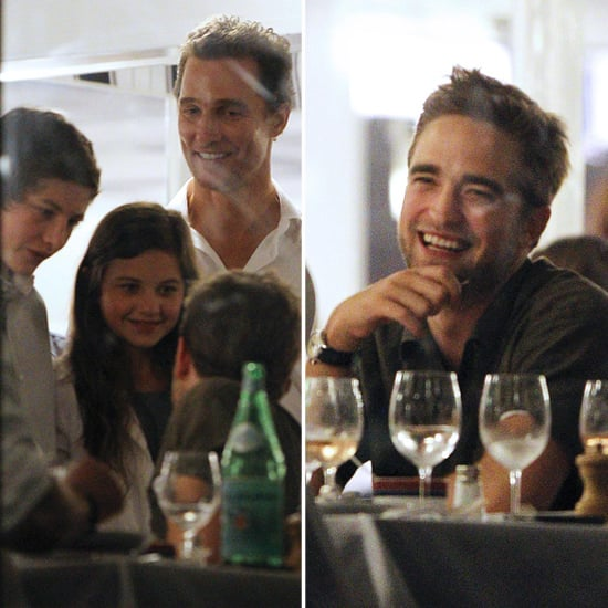 Robert Pattinson and Matthew McConaughey at Dinner Pictures